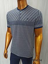 Мужская футболка Caporicco, mod.8847. Размеры Батал:  XXL(2),3XL,4XL.