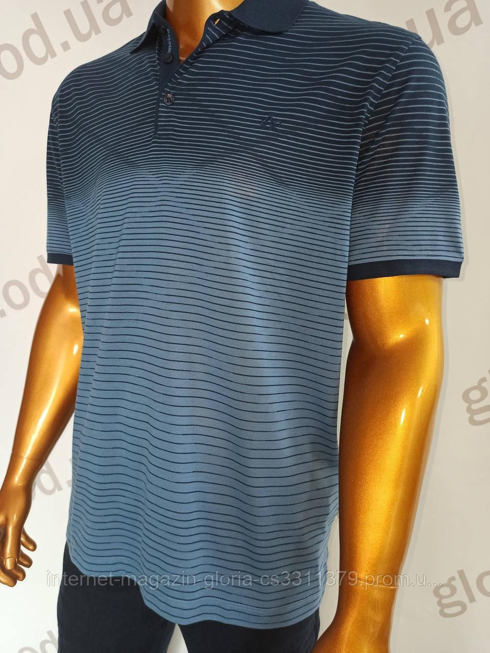 Мужская футболка поло Caporicco. PSL-8813s. Размеры Батал  2Xl(2),3XL,4XL.