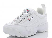 Кроссовки женские FILA белые SportLine-B2925-4