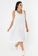 Платье из льна в стиле Бохо большого размера. Размеры: 48,50,52,54