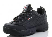 Кроссовки женские FILA черные SportLine-B2925-5