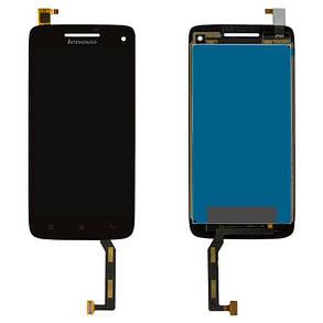 Модуль (дисплей + сенсор) для Lenovo S960 Vibe X чорний, фото 2