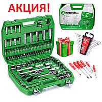 Автомобильный набор инструментов 108 ед. ET-6108SP + набор ключей 12 ед. HT-1203 + Набор ударных отверток 6 шт