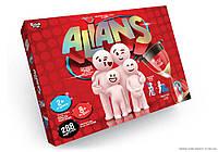 Детская настольная карточная игра в слова на время Alians G-ALN-01 (5) Danko Toys От 8 лет (І7 69044)