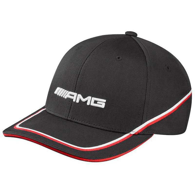 Мужская бейсболка Mercedes-Benz Men's cap, AMG, black / red / white, артикул B66952886