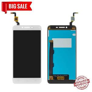 Модуль (дисплей+сенсор) для Lenovo A6020a46 Vibe K5 Plus / Lemon 3 білий, фото 2