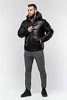 Мужская короткая спортивная зимняя куртка с капюшоном