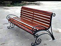 """Лавочка садовая уличная """"Ковка"""" усиленная /брус (скамейка для беседки, для дома, для дачи)"""