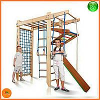 Детский спортивный деревянный уголок с рукоходом «Спартак-220» ТМ SportBaby для детей от 6 лет