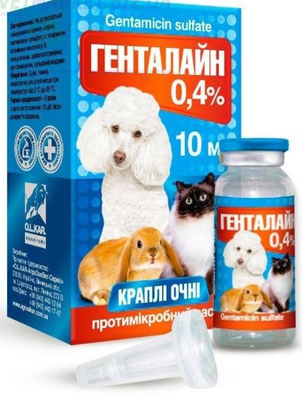 Капли Генталайн 0,4% глазные, 10 мл O.L.KAR. (Олкар) - Gentamicin suifate