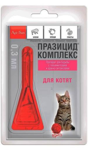 Празицид комплекс (Prazicid complex) Капли для котят, 1 пипетка*0,3 мл - от глистов, блох и клещей