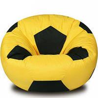 Большое бескаркасное кресло-мяч, ткань Oxford 600 Den, размер 120х120 (желтый/черный), фото 1