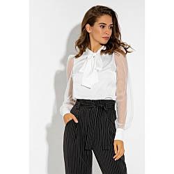 Белая женская блузка шёлковая