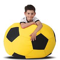 Детское бескаркасное кресло-мяч, ткань Oxford 600 Den, размер 70х70 (желтый/черный), фото 1