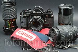 Canon A-1 kit nFD 50mm f1.8 + Power drive + 3 об'єктива