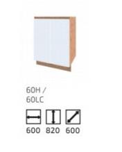 Кухня Софт 600 Н 600 НМ вотан/білий (Сокме)