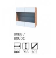 Кухня Софт 800 ВВ вотан/белый (Сокме)