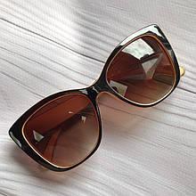 Очки солнцезащитные женские коричневые