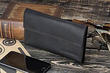 Мужское кожаное портмоне клатч Рейнграф черный, фото 3
