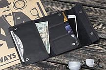 Мужское кожаное портмоне клатч Рейнграф черный, фото 2