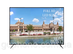 "Телевизор Liberton 22"" FullHD/DVB-T2/USB (1080р), фото 2"