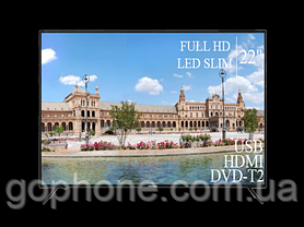 "Телевизор Liberton 22"" FullHD/DVB-T2/USB (1080р), фото 3"