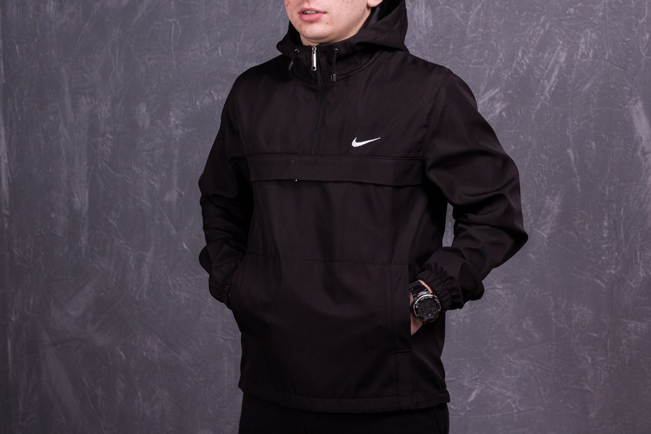 Анорак Мужской Nike President Черный найк ветровка осенняя весеняя
