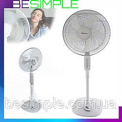 Напольный вентилятор Domotec MS-1621 с таймером и пультом (40 Вт, 44 см)