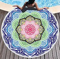 Пляжный коврик полотенце плед покрывало пляжний рушник покривало килимок