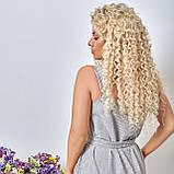 Льняной летний стильный сарафан в полоску, р.48,50,52,54 код 5015С, фото 10
