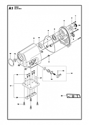 1 КОРОБКА ПЕРЕДАЧ   DM340, 2012 бурильная машина Хускварна   алмазное бурение  