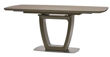 Стол Ravenna Matt Mocca раскладной 120/160 см стекло мокко ТМ Concepto