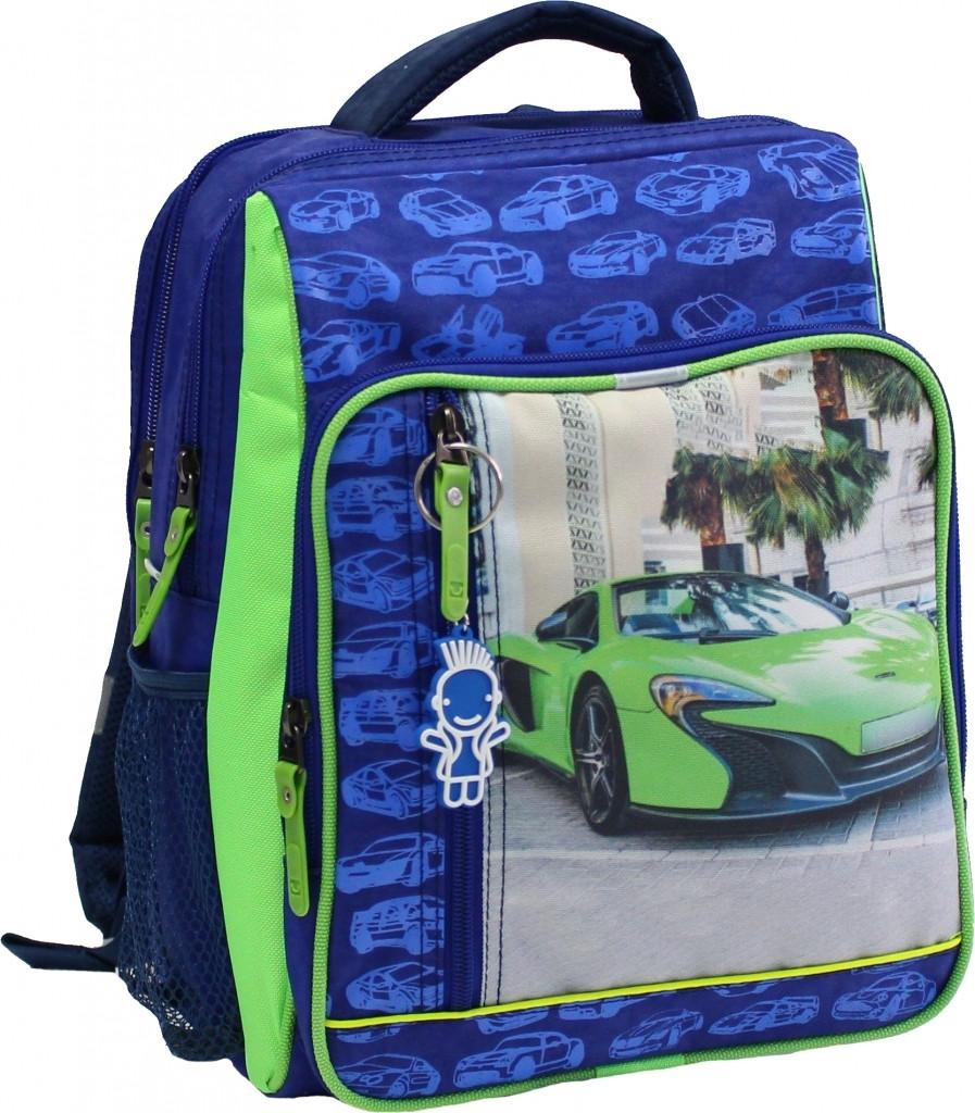 Рюкзак школьный Bagland Школьник 8 л. Электрик (зеленая машина 20) (00112702)