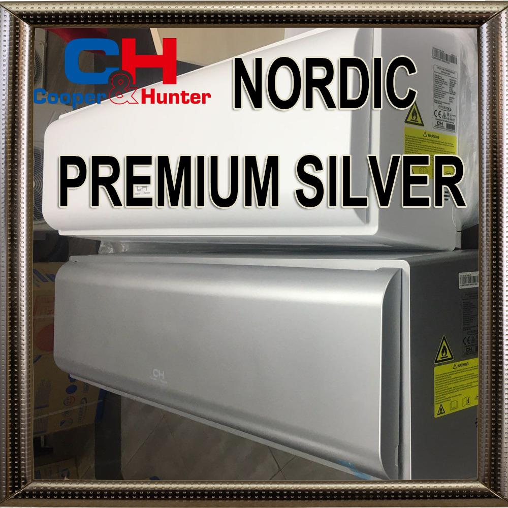 Кондиционер COOPER&HUNTER CH-S09FTXN-PS до 25 М2 инверторный до -28С серия Nordic PREMIUM Silver Серый матовый