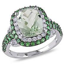 Серебряное кольцо, размер 16.5 (066146)
