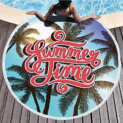 Пляжний килимок summer time рушник плед покривало пляжний рушник покривало килимок