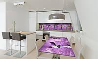 Наклейка на стол Zatarga «Сирень» 600х1200мм для домов, квартир, столов, кофейн, кафе