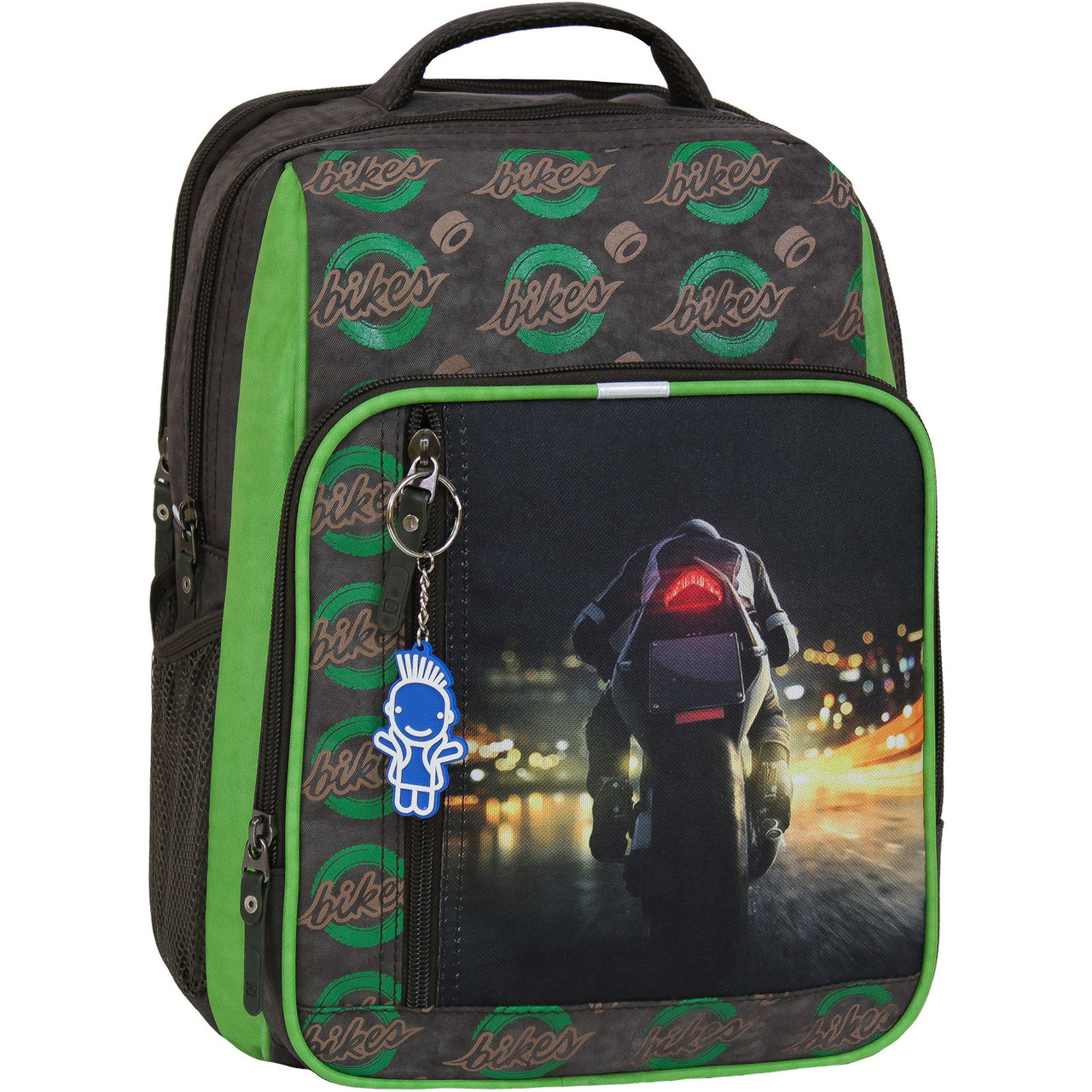 Рюкзак школьный для мальчика Bagland Школьник 8 л. 327 хаки 270к (00112702)