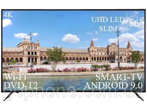 """Телевізор Liberton 56"""" Smart-TV/DVB-T2/USB АДАПТИВНИЙ UHD,4K/Android 9.0"""