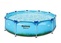 Bestway 5612w, каркасный бассейн Голубой Принт 3,05x76см, фото 1