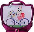 Рюкзак школьный каркасный с фонариками Bagland Успех 12 л. малиновый 430 (00551703), фото 4