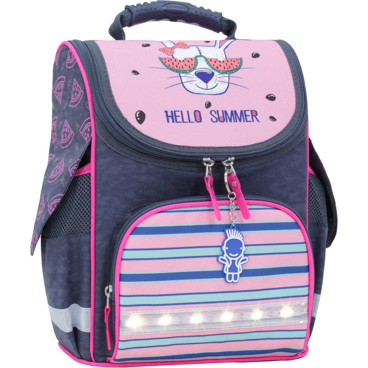 Рюкзак школьный каркасный с фонариками Bagland Успех 12 л. серый 204к (00551703)
