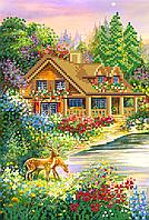 Будиночок в лісі. Схема вишивки бісером .