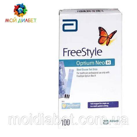 Тест смужки FreeStyle Optium Neo H 100 шт.