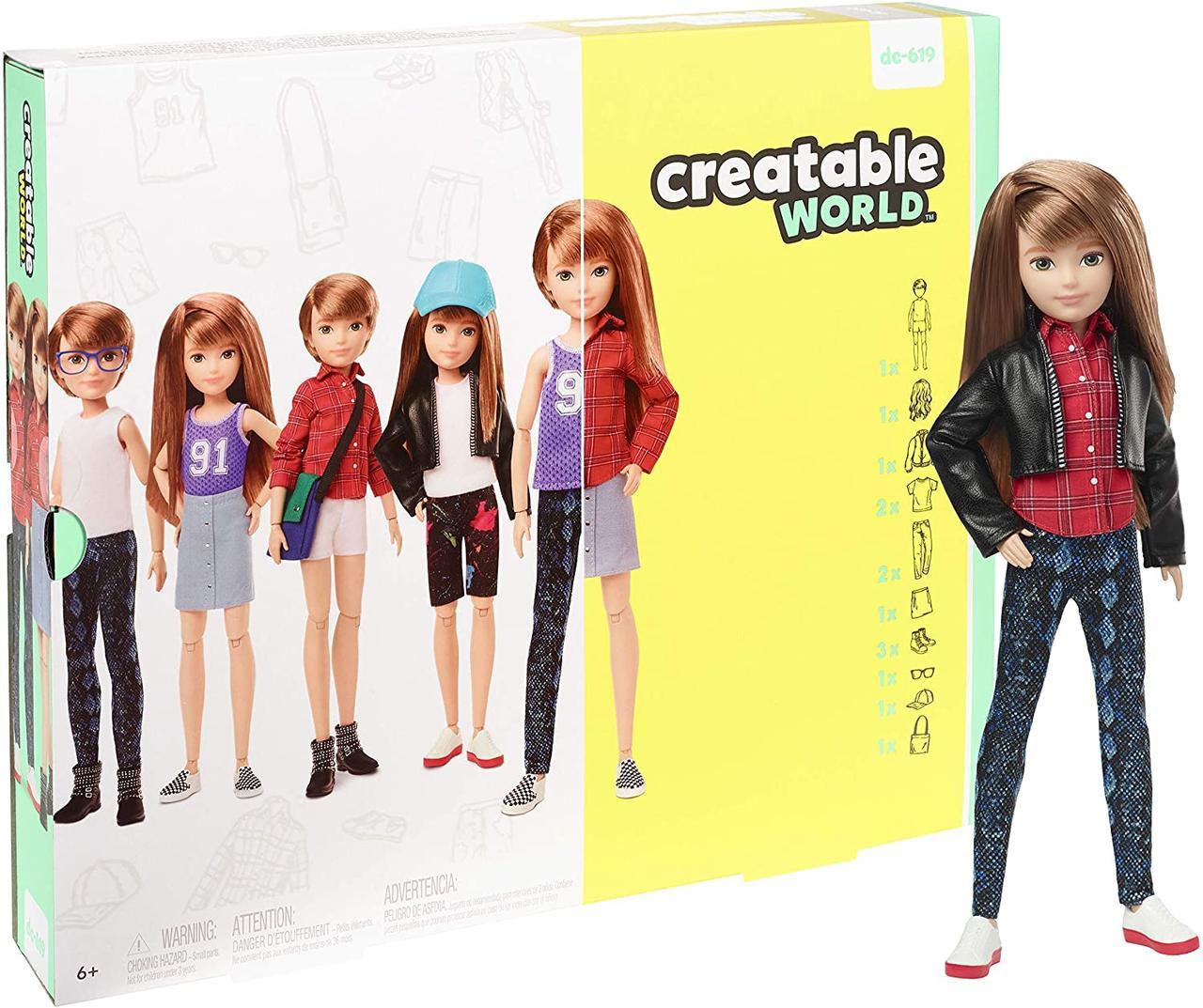 Набор из серии Создаваемый мир кукла Оригинал с медными прямыми волосами (GGG53)