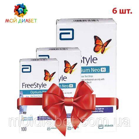 Тест смужки FreeStyle Optium Neo H 100 шт. 6 упаковок