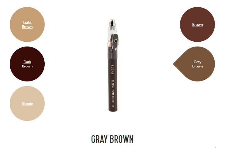 Цвет 01 (серо-коричневый) Восковый карандаш для бровей CC Brow TINTED WAX FIXATOR
