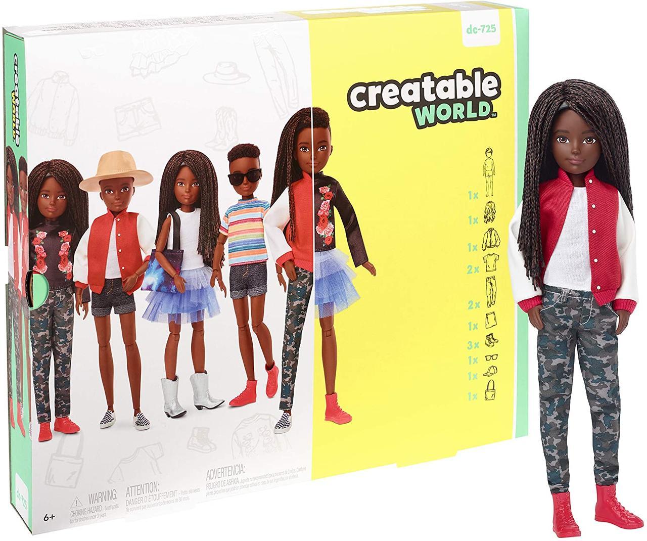 Набор из серии Создаваемый мир кукла с черными плетеными волосами Оригинал (GGG55) (887961778359)