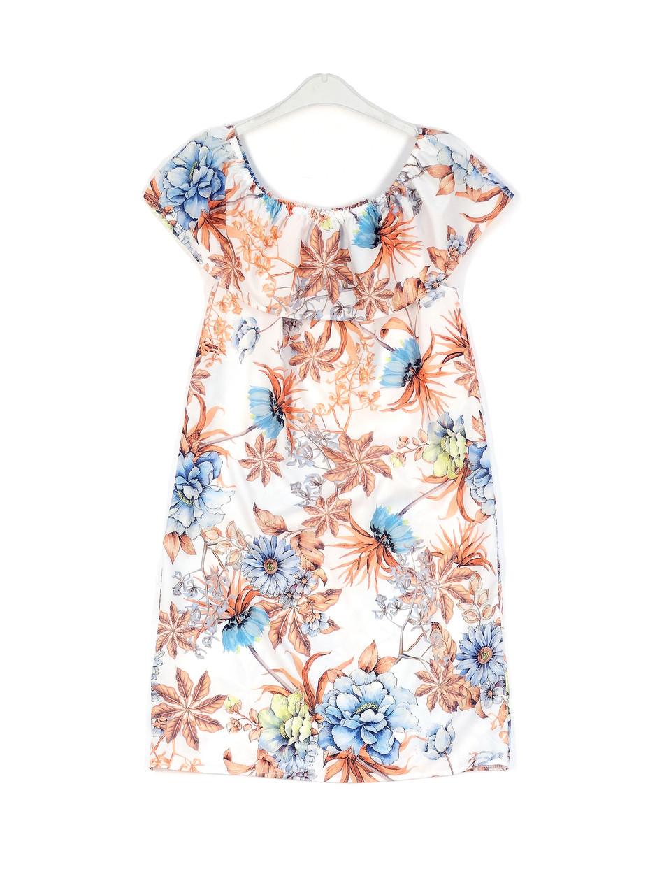 Тонкое летнее платье вырез на плечи (42)