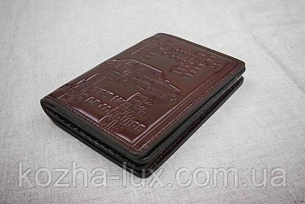 Кожаная обложка для прав Имидж шоколадный 09-003, фото 2